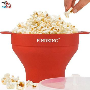 ONETOW FINDKING high quality 290g DlY Collapsible Silicone Microwave Hot Air Popcorn Popper Bowl folding Silicone Popcorn maker