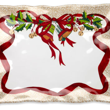 Holiday Ruffle Rectangle Serving Platter, Serving Plates & Platters