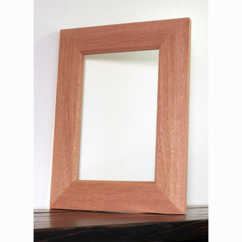 Unfinished Mahogany Picture Frame, Mirror Frame