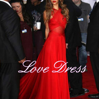Charming Sexy Red Floor-Length Celebrity Prom Dress / Evening Dress