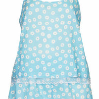 Daisy Print PJ Cami and Shorts - Pale Blue