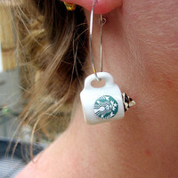 Starbucks Earrings. Celebrate your Favorite Drink.