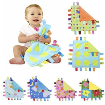 Educational Toy Security Blanket with Tags