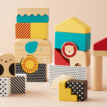 Animal Town Wooden Blocks Set