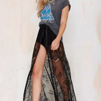 Kiss Them for Me Lace Tie Skirt