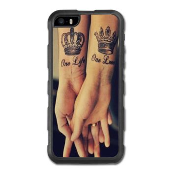 Love Qutoe Series One Life One Love Forever Tattoo iPhone 5/5S Hybrid Case - iPhone 5/5S Hybrid Case
