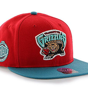 47 Brand Memphis Grizzlies Two-Toned Sure Shot Mens Snapback Hat KHWCL-SRSTT29WBP-RDA95 Red One Size