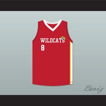 Chad Danforth 8 East High School Wildcats Red Basketball Jersey HSM3