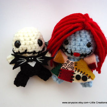 Jack Skellington and Sally Amigurumi