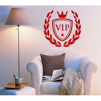 Vinyl Wall Decal VIP Crown Living Room Bedroom Home Decor Stickers Mural (ig5576)