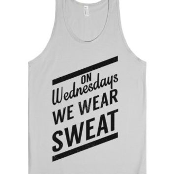On Wednesdays We Wear Sweat-Unisex Silver Tank