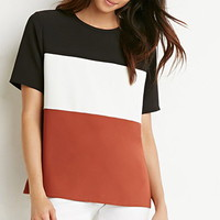 Colorblocked Panel Boxy Top