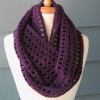 LEAH Infinity Scarf 70 inches Crochet Cowl by ArtsyCrochet on Etsy