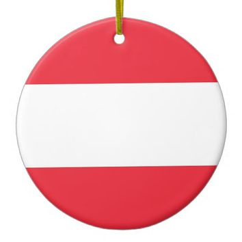 Ornament with flag of Austria