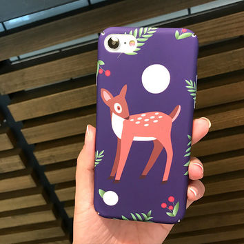 Deer Case for iPhone 7 7Plus & iPhone se 5s 6 6 Plus Best Protection Cover +Gift Box