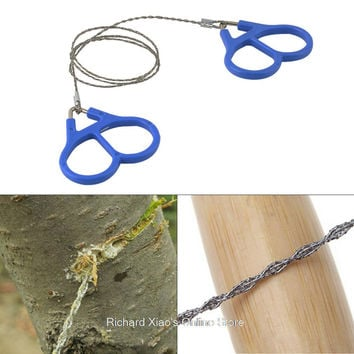 Flexible Emergency Hunting Climbing Gear Ring Scroll Wire Saw Steel Wire Saw Lightweight Outdoor Camping Hiking Survival Tool