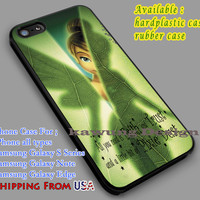 Tinkerbell's Pixie Quote iPhone 6s 6 6s+ 6plus Cases Samsung Galaxy s5 s6 Edge+ NOTE 5 4 3 #cartoon #disney #animated #tinkerbell #comic dl5