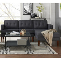 DG Casa Danbury Mid-century Grey Sectional Sofa | Overstock.com Shopping - The Best Deals on Sofas & Loveseats