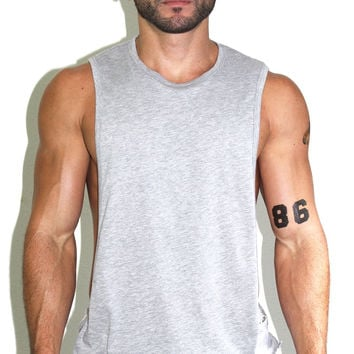 Core Low Armhole Tank-Grey