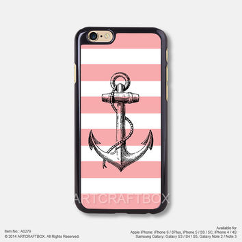 Pink Strip Sketch Anchor Free Shipping iPhone 6 6Plus case iPhone 5s case iPhone 5C case 279