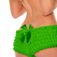 Green Ruffle Panty with Bow