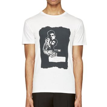 Marc By Marc Jacobs White And Black The End Print T-shirt