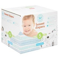 Honest Company Teal Tribal/Space Travel Club Pack 50ct Disposable Diapers Size 5