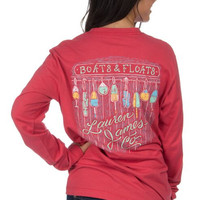 Lauren James Long Sleeve Tee- Boats and Floats- FINAL SALE