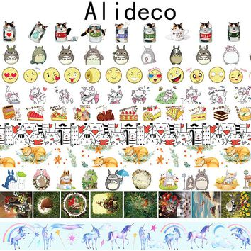 Alideco  Washi Masking Tapes Animals Cat Cake Decorative Adhesive Scrapbooking DIY Paper Japanese Stickers Size 1.5cm*10m