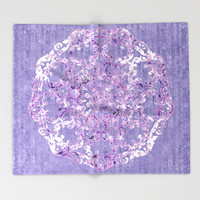 A Taste of Lilac Wine Throw Blanket by Octavia Soldani | Society6