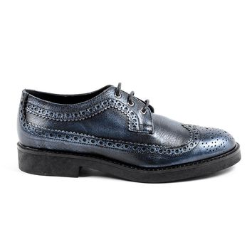 V 1969 Italia Womens Brogue Shoe Blue TRENTO