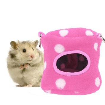 Small Animal Pet Hamster House Bed Basket House Pet Squirrel Fox Hamster Bed Hanging House Cage Nest Hamster Accessory 4 Color