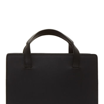 Pb 0110 Black Boxy Leather Shoulder Bag