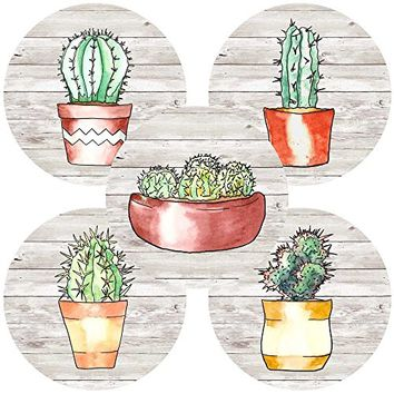 Cactus Plant Sticker Labels for Party Favors - Wedding Bridal Baby Shower Envelope Seals - Set of 50