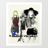 American Horror Story: Coven Art Print by Sara Eshak