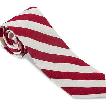 Red/ White Kensington Striped Necktie - F2805