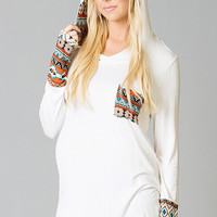 Quest To Southwest Hooded Maternity Top