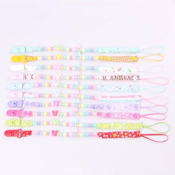 1 piece Baby Pacifier Clip Chain 15 Styles Newborn Dummy Pacifier Chain Clip Holder For Baby