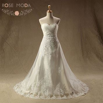 Rose Moda Lace Wedding Dress Lace Up Back Empire Maternity Wedding Dresses Plus Size Vestido De Noiva Real Photos