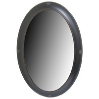 Rubbed Black Oval Mirror with Bevel   Shop Hobby Lobby