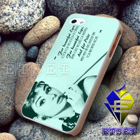 audrey hepburn quote - Case For iPhone 6, iPhone 6+, samsung note 4, note 3, iPhone 5C Case, iPhone 5/5S Case, iPhone 4/4S Case, Samsung S5, S4, S3, iPod 5, iPad mini/air/2/3/4 United States Case  (AQ)