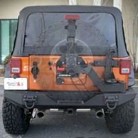 Rugged Ridge XHD Gen II Swing Out Tire Carrier In Black Powdercoat   Jeep Parts and Accessories   Quadratec
