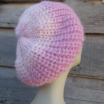 PINK OMBRE beanie.Handknitted beanie / Hat /Fashion Trends 2014-15 /Ready to ship