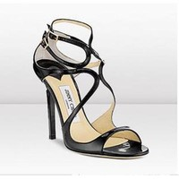 Jimmy Choo Women Fashion Fish Mouth Heels Shoes Sandals-2
