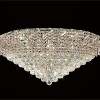 Udell - Flush Mount (12 Light Modern Flush Mount Crystal Chandelier) - 8341F30