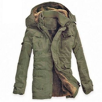 Cool Plus Size New Winter Jacket Men Army Military Long Thick Warm Hooded Coat Casual Cotton-Padded Jacket Overcoat Parkas Hombre 5XLAT_93_12