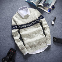 Slim Fitting Ethnic Men's Comfortable Knitted Sweater Knitwear