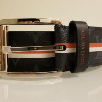 CREYRQ5 LOUIS VUITTON 40MM STAMP DAMIER BELT MP167Q 85CM 34 INCH 'LIMITED EDITION'