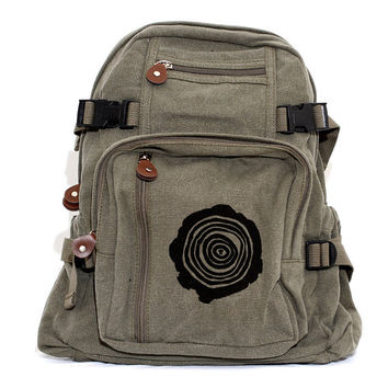 Backpacks, Tree Rings, Canvas Backpack, Rucksack, Hiking Backpack, Small Backpack, Bag, Women's Backpack, Men's Backpack