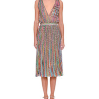 Missoni Sleeveless V-Neck Midi Dress